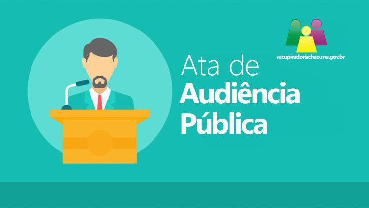 Ata de Audiência Pública
